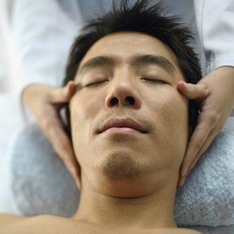 Man Getting Face Massage Comp